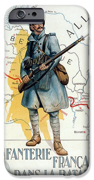 Bayonet iPhone Cases - World War I: French Poster iPhone Case by Granger