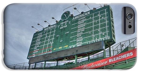 Chicago Cubs iPhone Cases - Wrigley Scoreboard iPhone Case by David Bearden