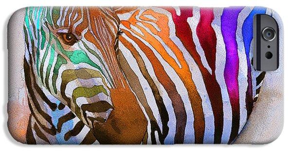 Wildlife iPhone Cases - Zebra Dreams iPhone Case by Galen Hazelhofer
