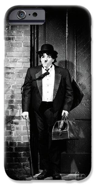 Charlie Chaplin iPhone Case by Oleksiy Maksymenko