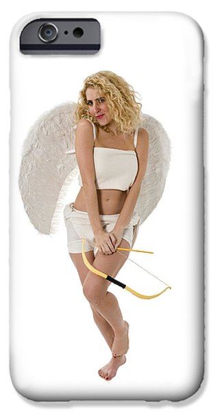 Innocence iPhone Cases - Cupid the god of desire iPhone Case by Ilan Rosen