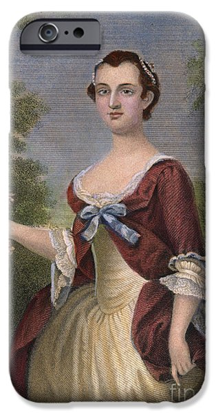 First Lady iPhone Cases - Martha Washington iPhone Case by Granger