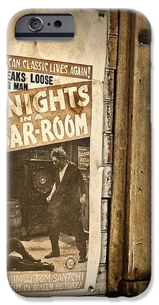 10 Nights in a Bar Room iPhone Case by Scott Norris