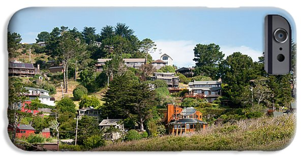 Sausalito Digital Art iPhone Cases - Sausalito iPhone Case by Carol Ailles