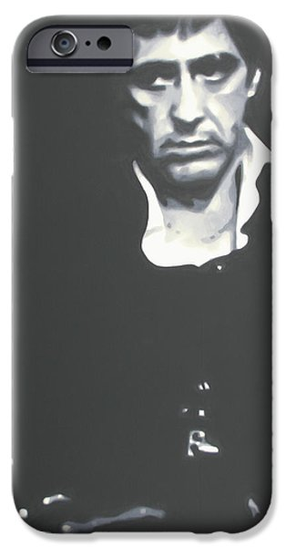 Scarface iPhone Cases - Scarface iPhone Case by Luis Ludzska