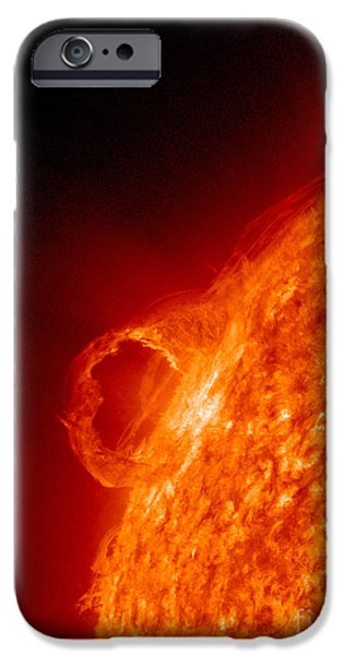 Solar Phenomena iPhone Cases - Solar Prominence iPhone Case by Science Source