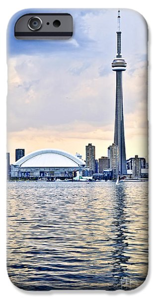 Modern Architecture iPhone Cases - Toronto skyline iPhone Case by Elena Elisseeva