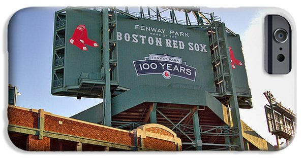 Fenway Park iPhone Cases - 100 Years at Fenway iPhone Case by Joann Vitali