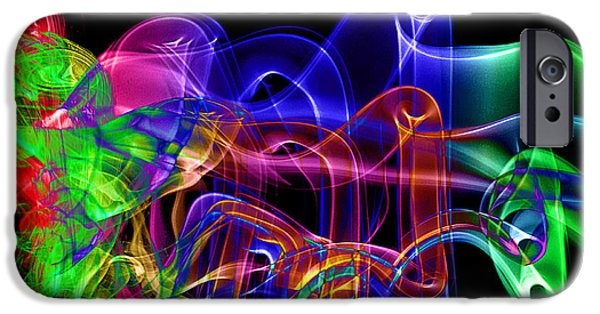 Concept Art iPhone Cases - Abstract Smoke Art iPhone Case by Stephen Inglis
