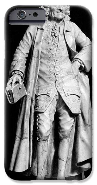 Statue Portrait iPhone Cases - Voltaire (1694-1778) iPhone Case by Granger