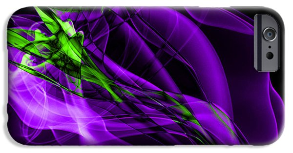 Abstract Forms iPhone Cases - Abstract Smoke Art iPhone Case by Stephen Inglis