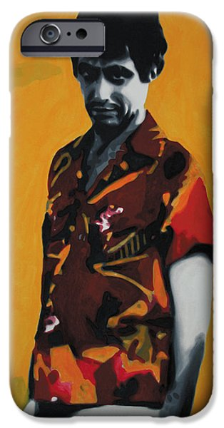 Oliver Stone iPhone Cases - - Scarface - iPhone Case by Luis Ludzska