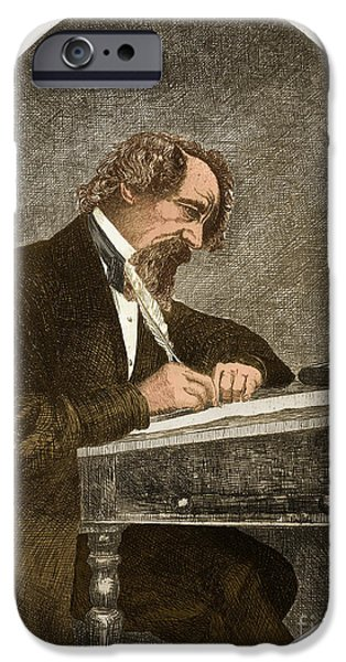 Scrooge iPhone Cases - Charles Dickens, English Author iPhone Case by Photo Researchers