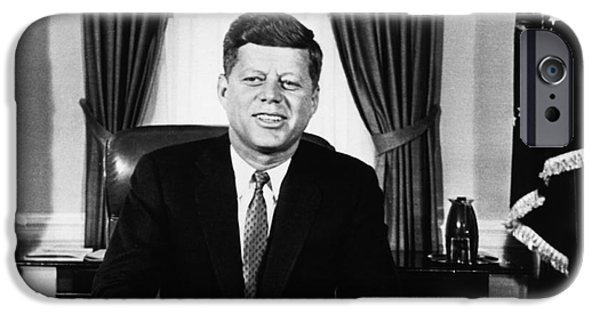 Oval Office iPhone Cases - John F. Kennedy (1917-1963) iPhone Case by Granger