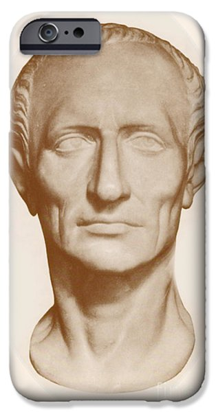 Assassinated iPhone Cases - Julius Caesar, Roman General iPhone Case by Photo Researchers