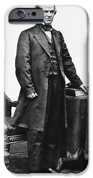 President iPhone Cases - Andrew Johnson (1808-1875) iPhone Case by Granger