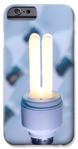 Energy-saving Light Bulb iPhone Case by Tek Image
