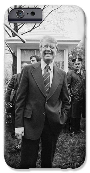 Carter House iPhone Cases - Jimmy Carter (1924- ) iPhone Case by Granger