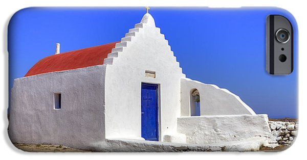 Blue iPhone Cases - Mykonos iPhone Case by Joana Kruse