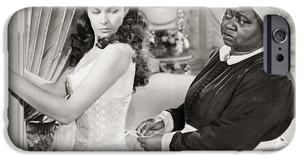 Corset iPhone Cases - Gone With The Wind, 1939 iPhone Case by Granger