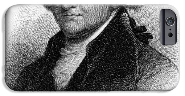 Autographed iPhone Cases - John Adams (1735-1826) iPhone Case by Granger