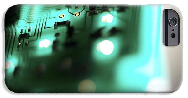 Technology Equipment iPhone Cases - Circuit Board iPhone Case by Tek Image