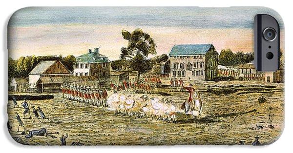 American Revolution iPhone Cases - Battle Of Lexington, 1775 iPhone Case by Granger