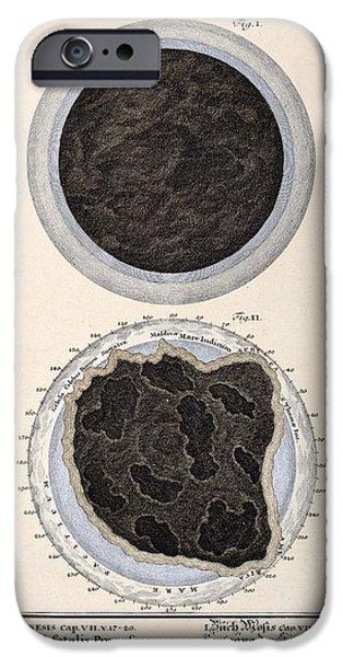 1731 Johann Scheuchzer Bible Flood World iPhone Case by Paul D Stewart