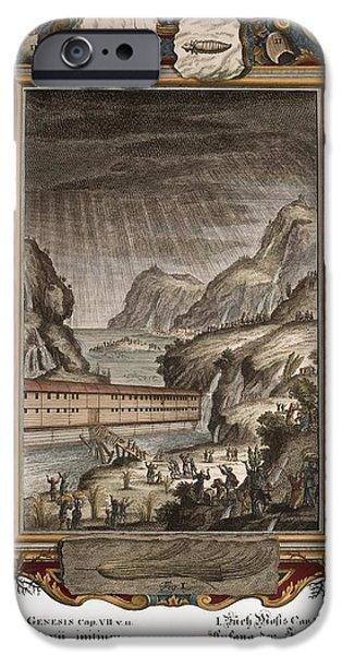 1731 Johann Scheuchzer Noah's Ark Flood iPhone Case by Paul D Stewart