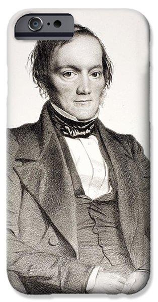 Moa iPhone Cases - 1850 Richard Owen Portrait Paleontologist iPhone Case by Paul D Stewart
