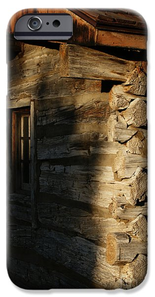 Cabin Window iPhone Cases - 1854 iPhone Case by Linda Knorr Shafer