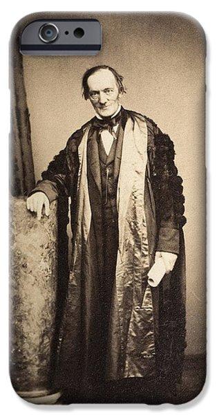 Moa iPhone Cases - 1870s Professor Sir Richard Owen iPhone Case by Paul D Stewart