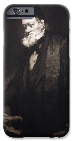 Moa iPhone Cases - 1889 Sir Richard Owen Portrait In Old Age iPhone Case by Paul D Stewart
