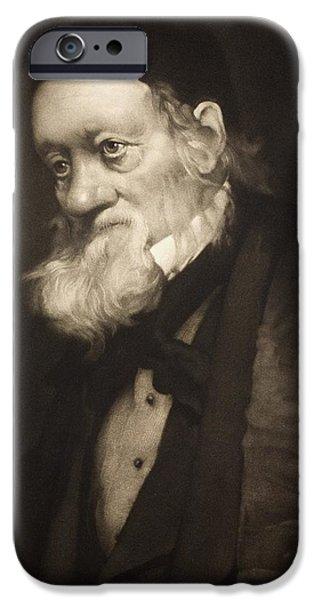 Moa iPhone Cases - 1889 Sir Richard Owen Portrait Old Age Cu iPhone Case by Paul D Stewart