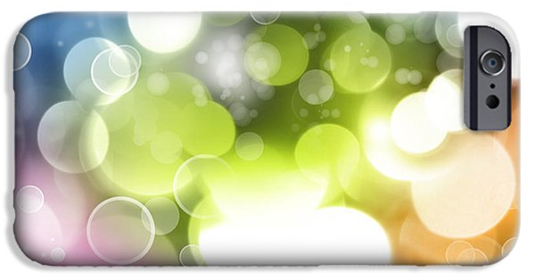 Backgrounds iPhone Cases - Abstract background iPhone Case by Les Cunliffe