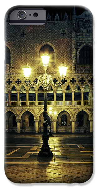 Night Lamp iPhone Cases - Venezia iPhone Case by Joana Kruse
