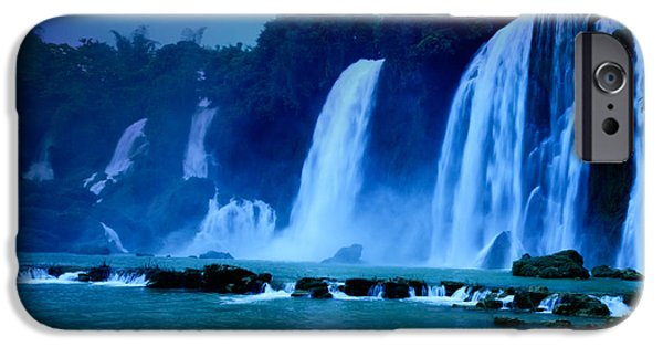 Moonlit iPhone Cases - Waterfall iPhone Case by MotHaiBaPhoto Prints