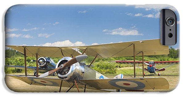 1916 Photographs iPhone Cases - 1916 Sopwith Pup Airplane On Airfield Poster Print iPhone Case by Keith Webber Jr