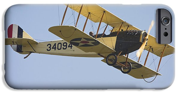 Curtiss iPhone Cases - 1917 Curtiss JN-4D Jenny Flying Canvas Photo Poster Print iPhone Case by Keith Webber Jr