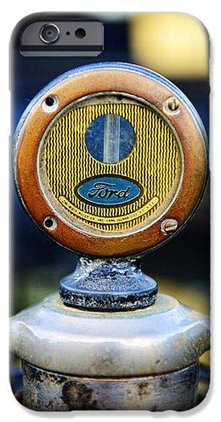1919 Ford Model T Hood Ornament Original iPhone Case by Paul Ward