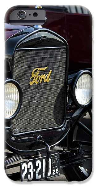 1925 Ford Model T Coupe Grille iPhone Case by Jill Reger