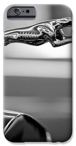 1925 Lincoln Town Car Hood Ornament iPhone Case by Sebastian Musial