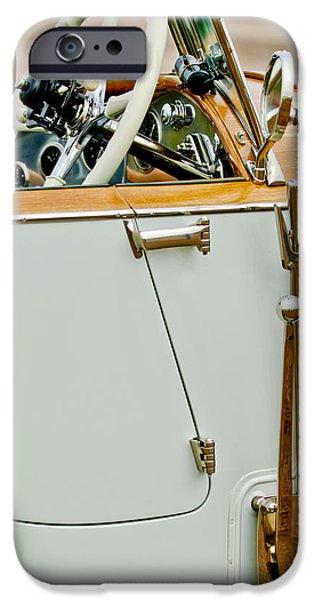 Barker iPhone Cases - 1925 Rolls-Royce Phantom I Barker Sports Torpedo Tourer Steering Wheel iPhone Case by Jill Reger