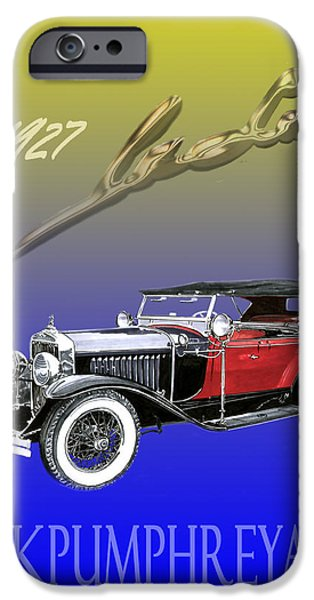 Nineteen iPhone Cases - 1927 LaSalle iPhone Case by Jack Pumphrey