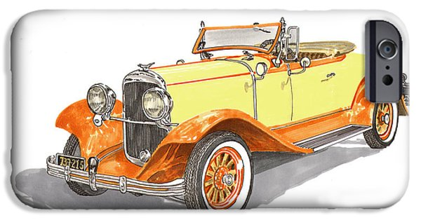 Covered Bridge Paintings iPhone Cases - 1929 Chrysler 65 Roadster iPhone Case by Jack Pumphrey
