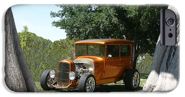 Lightweight iPhone Cases - 1929 Ford Butter Scorch Orange iPhone Case by Jack Pumphrey