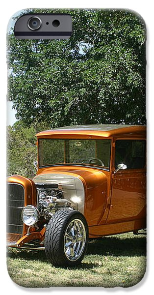 1929 Ford Butter Scorch Orange iPhone Case by Jack Pumphrey