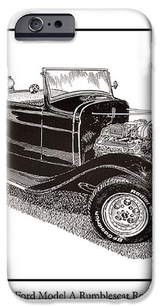 1930 Ford Model A Roadster iPhone Case by Jack Pumphrey