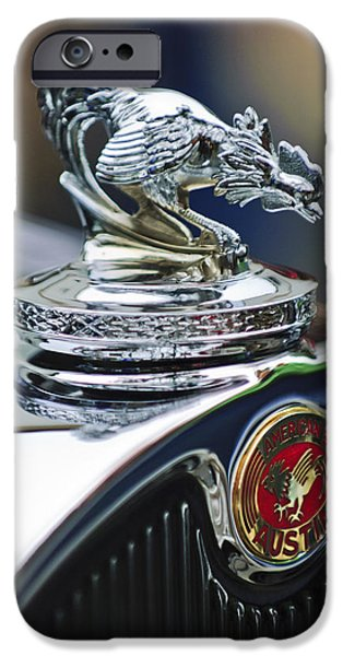 1931 American Austin Roadster Hood Ornament iPhone Case by Jill Reger