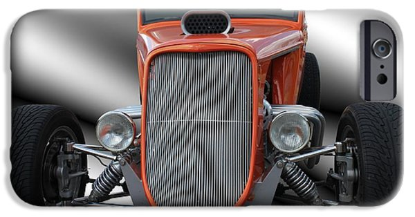 Betty Ford iPhone Cases - 1933 Ford Roadster - Hotrod Version Of Scream iPhone Case by Betty Northcutt